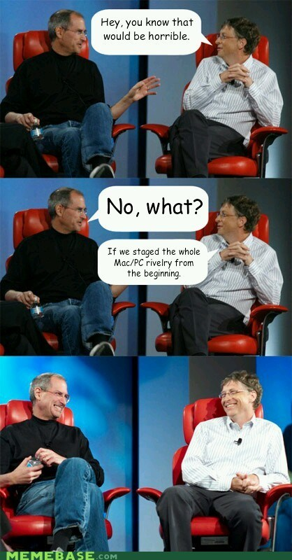 Bill Gates computers pc vs mac steve jobs - 6439319040