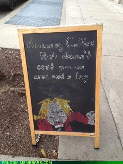 coffee,Fan Art,fandom,fullmetal alchemist,sign