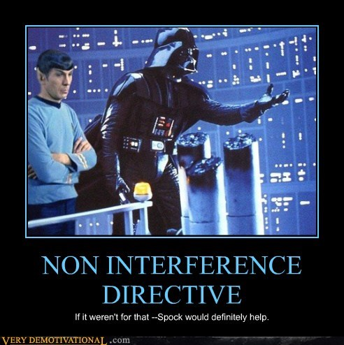 darth vader,hilarious,prime directive,Star Trek