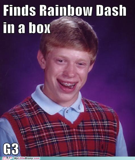 bad luck brian G3 meme my little dashie - 6439845120