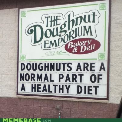 diet donut IRL sign - 6439925760
