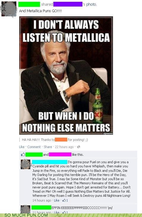 comment conversation facebook Hall of Fame metallica skillful song Songs titles
