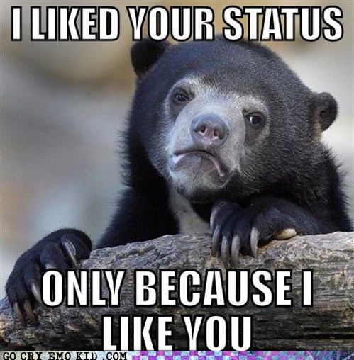 crushes,emolulz,facebook,like,status update