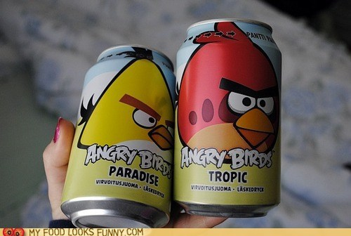 angry birds birds cans juice soda - 6440189440