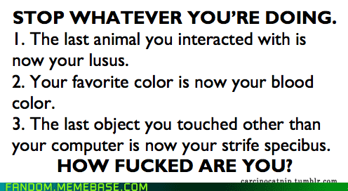 Homestuck lusus/blood color/strifespecibus generator