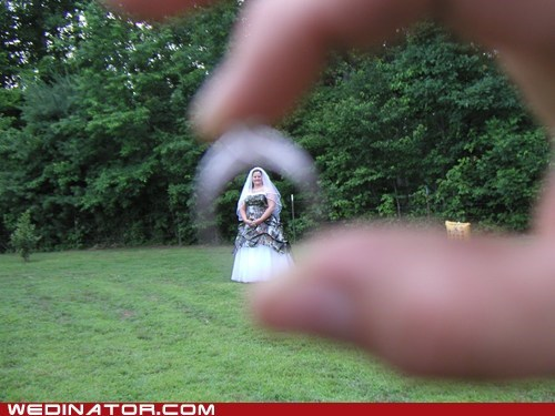 bride funny wedding photos perspective rings
