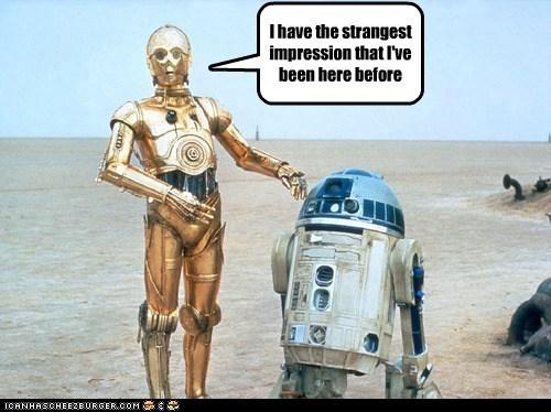 A New Hope c3p0 deja vu feeling prequels r2d2 star wars strange the phantom menace worse - 6440400384