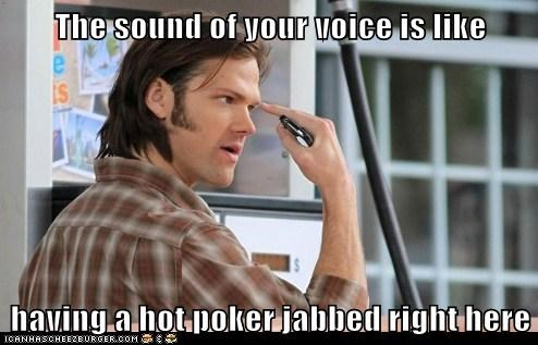 forehead jab Jared Padalecki painful pointing sam winchester Supernatural - 6440645632
