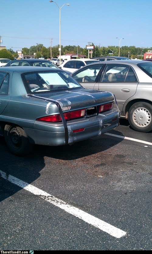 bumper,car bumper,duct tape,trunk