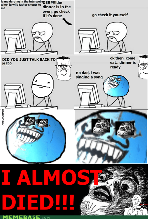 i lied parenting Rage Comics raisin face