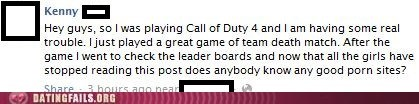 call of duty 4,clever,men of the world,pr0n,we salute you