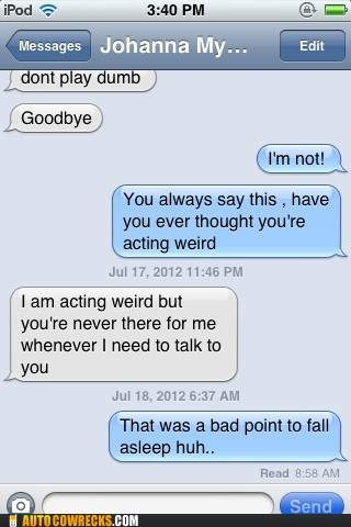 acting weird bad timing fall asleep serious talk - 6440690176