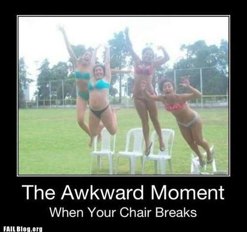 breaking chair,demotivational posters,plastic chairs,underwear