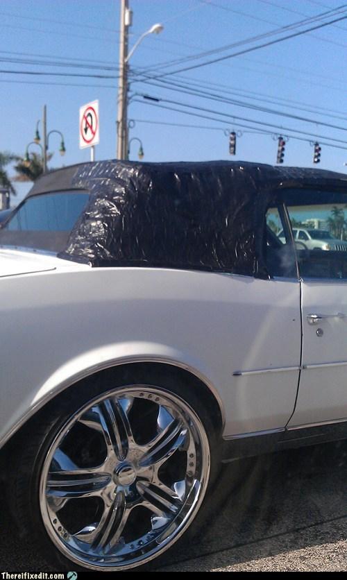 car fail car fix convertible electricians-tape soft-top tape - 6440746496