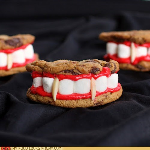 almonds cookies dracula marsmallows teeth vampire