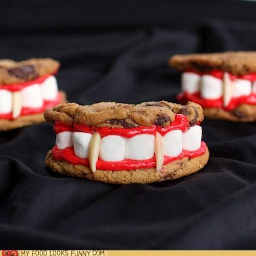 almonds cookies dracula marsmallows teeth vampire - 6440750336