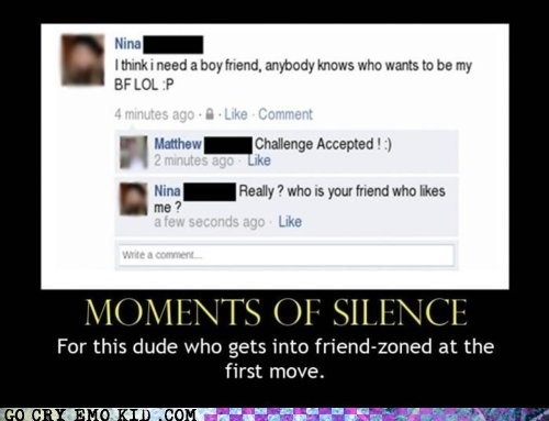 denied emolulz facebook friendzone moment of silence