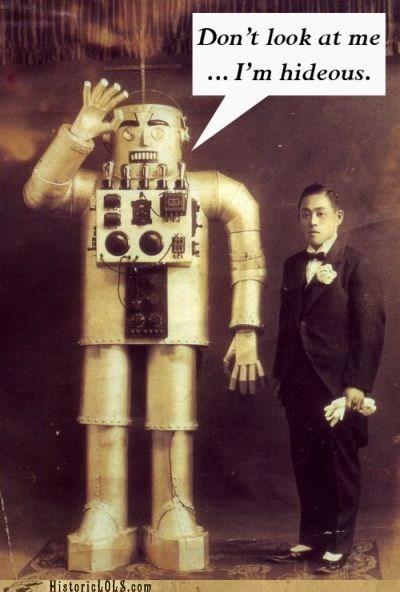 ashamed man robot ugly - 6440900608