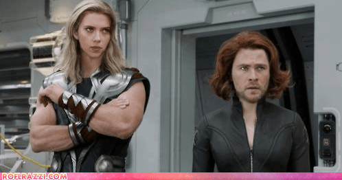 actor celeb chris hemsworth funny Movie scarlett johansson summer blockbusters The Avengers - 6440915456
