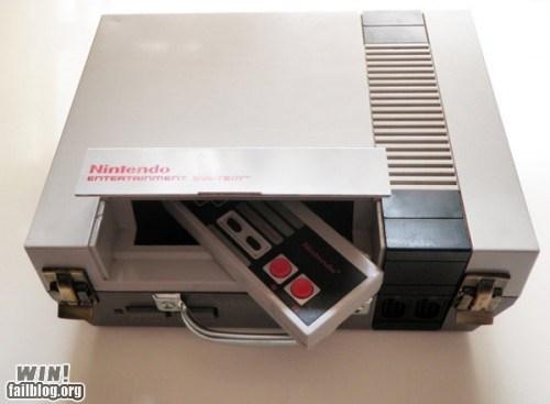 briefcase nerdgasm NES nintendo style