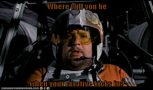 bad time,crap,Death Star,laxative,Porkins,star wars,x wing