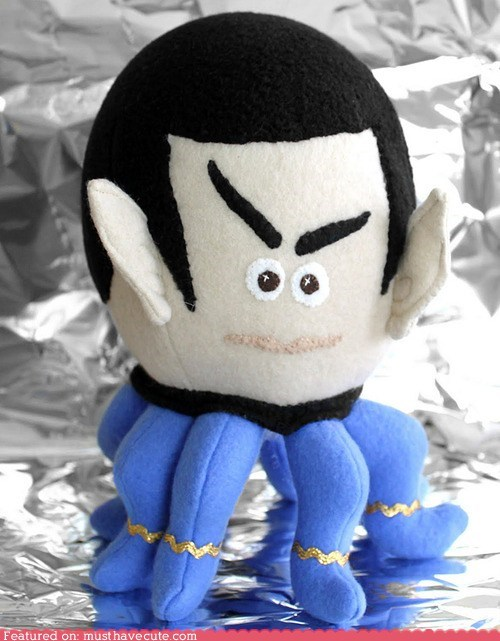 fleece octopus Plush Spock - 6440986624