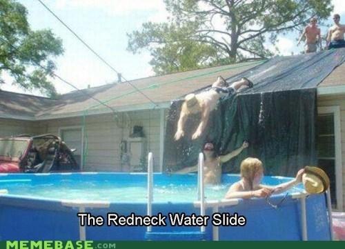 beer,Memes,pool,redneck,slide