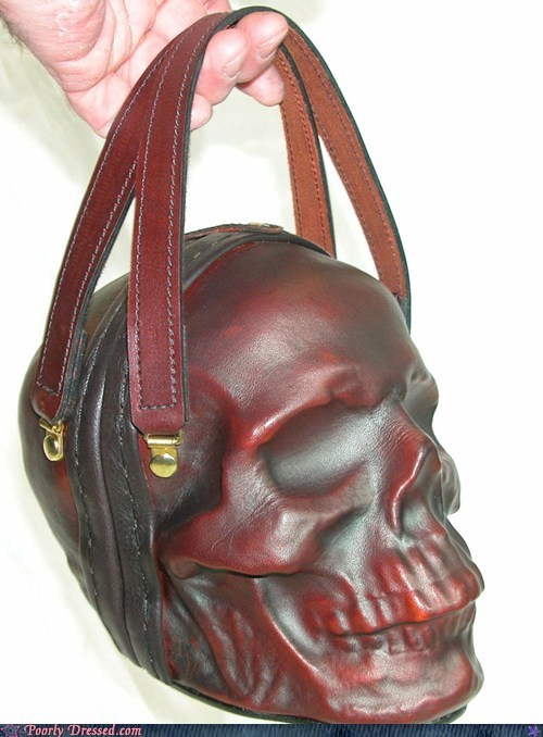 best of week creepy fashion g rated Hall of Fame handbag poorly dressed purse skull - 6441199360