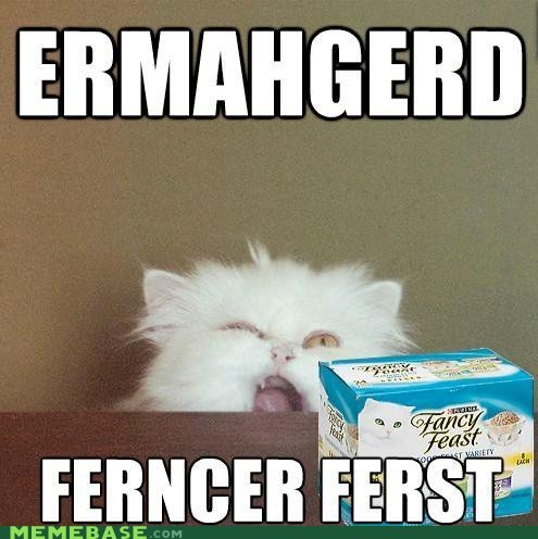 cat food derp Ermahgerd fancy feast pets - 6441235712