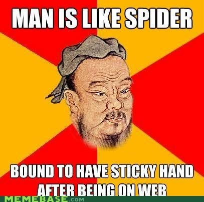 Memes puns spider sticky web - 6441338624