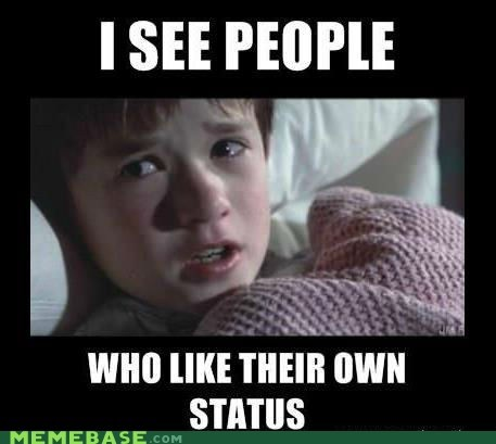 Dead People facebook like my status Memes Sixth Sense - 6441372160