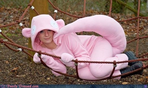 cosplay costume dressed to win Pokémon slowpoke