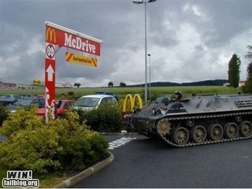 drive thru,fast food,McDonald's,military