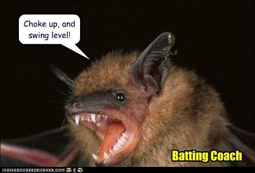 Choke up, and swing level! Batting Coach