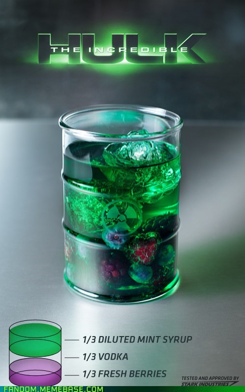 alcohol drinks It Came From the It Came From the Interwebz noms the incredible hulk - 6442309120
