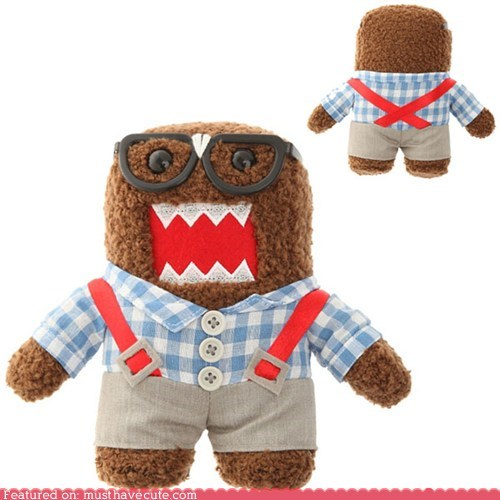 braces domo glasses nerd suspenders - 6442410240