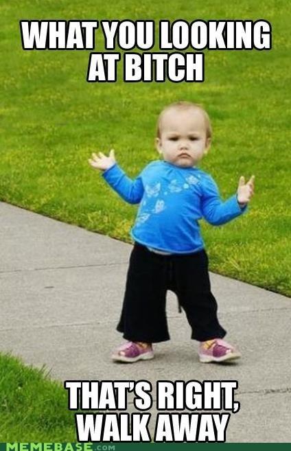 a-tude Babies Memes walk away - 6442591488