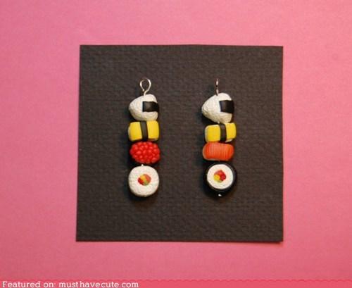 charm handmade miniature polymer clay sushi - 6442768384