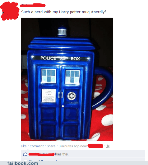 doctor who failbook g rated Harry Potter nerd - 6442979072