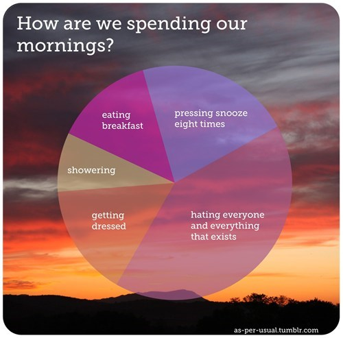 best of week breakfast laziness morning person Pie Chart showering sleep snooze - 6443045120