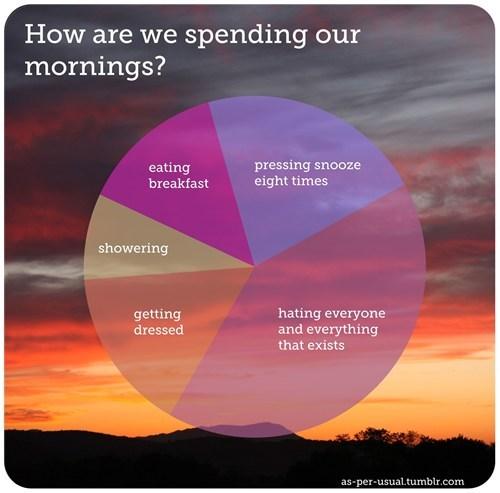 best of week breakfast laziness morning person Pie Chart showering sleep snooze - 6443045120