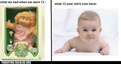 baby,cabbage patch kid,kids today