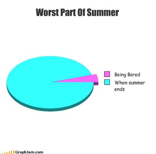boredom days ends Pie Chart summer break