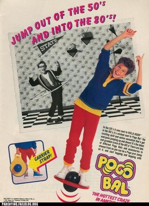 80s Ad pogo ball