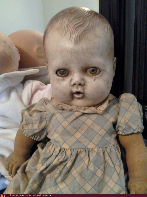 antique best of week creepy doll nightmare fuel wtf - 6443331840