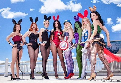 cosplay crossover playboy bunnies The Avengers - 6443430400