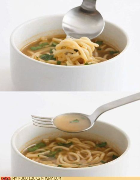 best of the week,fork,noodles,soup,spoon,spork