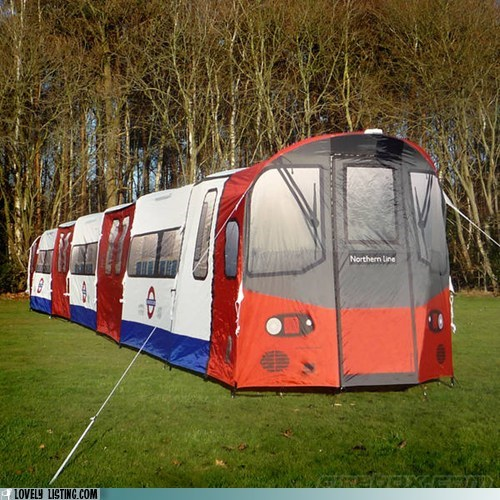 london tube Subway tent train underground yard