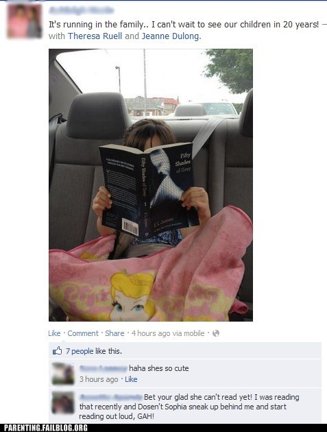 50 shades of grey,facebook,reading
