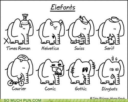 elephant elephants font Hall of Fame literalism similar sounding suffix - 6443556608
